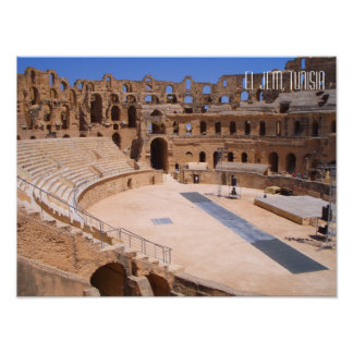 El Jem Colosseum Amphitheatre Tunisia Photo Art