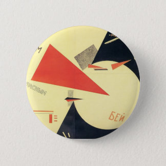 El Lissitzky- Beat the Whites with the Red Wedge 6 Cm Round Badge