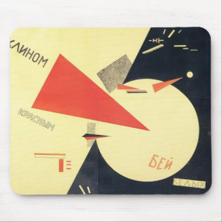 El Lissitzky- Beat the Whites with the Red Wedge Mouse Pad