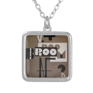 El Lissitzky- Cover of Broom Personalized Necklace