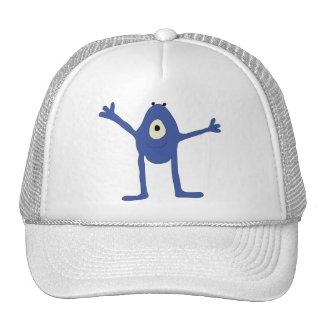 El monstruo quiere un abrazo - azul mesh hat