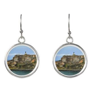 El Morro Guarding San Juan Bay Entrance Earrings