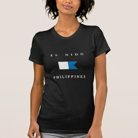 El Nido Philippines Alpha Dive Flag T-Shirt