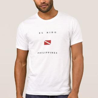 El Nido Philippines Scuba Dive Flag T-Shirt