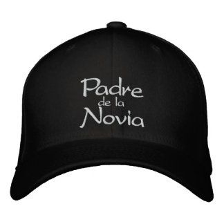 El padre de la Novia de la Boda Hat Embroidered Cap