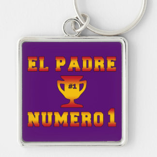 El Padre Número 1 1 Dad in Spanish Father s Day Key Chains