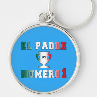El Padre Número 1 1 Dad in Spanish Father s Day Key Chain