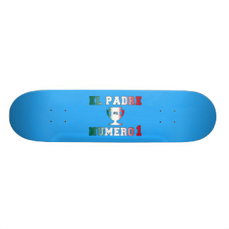 El Padre Número 1 #1 Dad in Spanish Father's Day 20 Cm Skateboard Deck