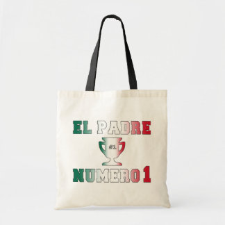 El Padre Número 1 #1 Dad in Spanish Father's Day Budget Tote Bag