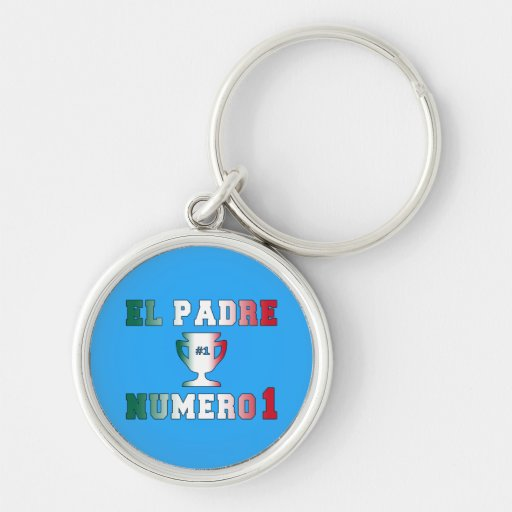 El Padre Número 1 #1 Dad in Spanish Father's Day Key Chain