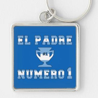 El Padre Número 1 - Number 1 Dad in Argentine Keychain