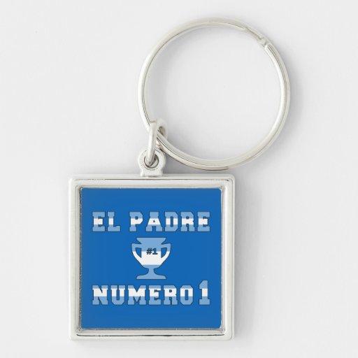 El Padre Número 1 - Number 1 Dad in Argentine Key Chain