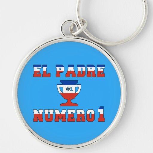 El Padre Número 1 - Number 1 Dad in Chilean Keychain