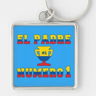 El Padre Número 1 - Number 1 Dad in Ecuadorian Keychain