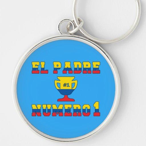 El Padre Número 1 - Number 1 Dad in Ecuadorian Keychains