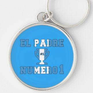 El Padre Número 1 - Number 1 Dad in Guatemalan Keychains