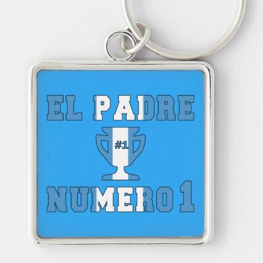 El Padre Número 1 - Number 1 Dad in Guatemalan Key Chain