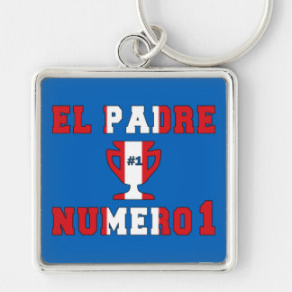 El Padre Número 1 - Number 1 Dad in Peruvian Keychains