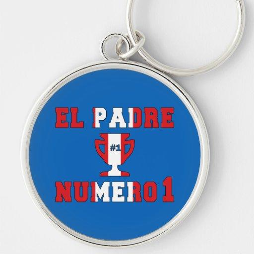 El Padre Número 1 - Number 1 Dad in Peruvian Key Chains