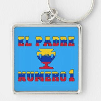 El Padre Número 1 - Number 1 Dad in Venezuelan Keychains