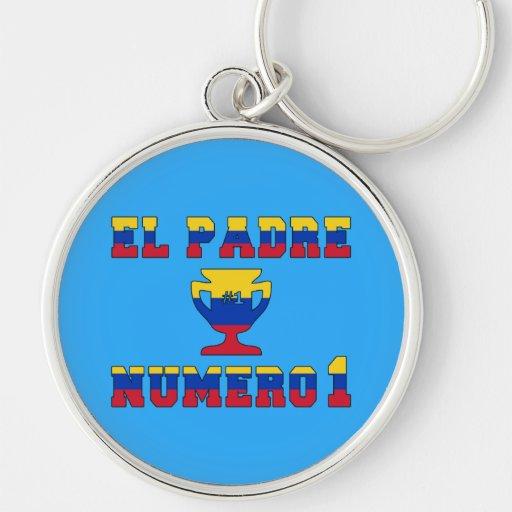El Padre Número 1 - Number 1 Dad in Venezuelan Keychain