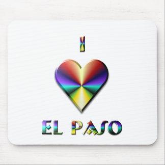 El Paso -- Brown Blue & Gold Mouse Pad