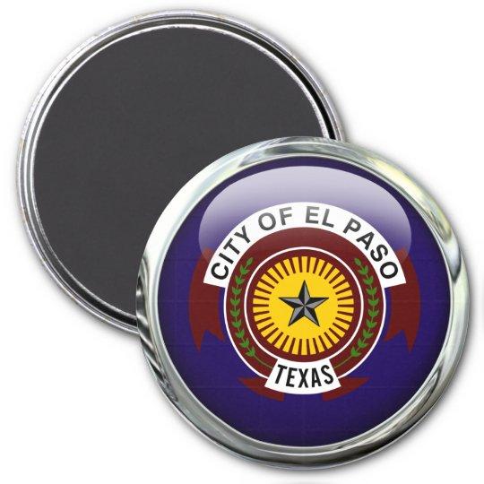 El Paso Flag Glass Ball 7.5 Cm Round Magnet