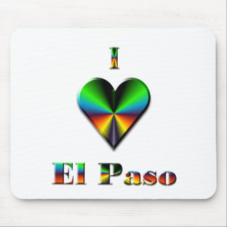 El Paso -- Green Blue & Orange Mouse Pad
