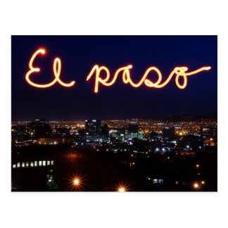 El Paso Skyline Postcard
