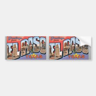 El Paso Texas Bumper Sticker