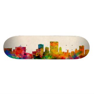 El Paso Texas Skyline Cityscape Skateboard Deck