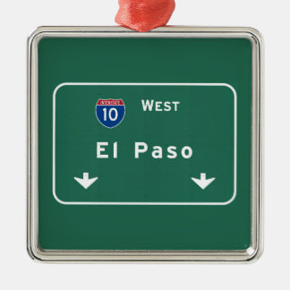 El Paso Texas tx Interstate Highway Freeway Road : Christmas Ornament