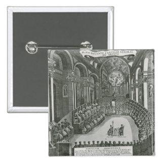 El Sacrosanto Concilio General de Trento 15 Cm Square Badge