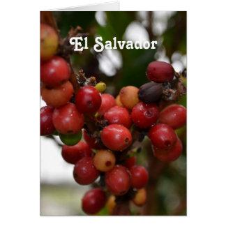 El Salvador Coffee Beans Card
