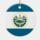 El Salvador Double-Sided Ceramic Round Christmas Ornament