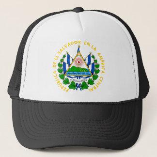 el salvador emblem trucker hat