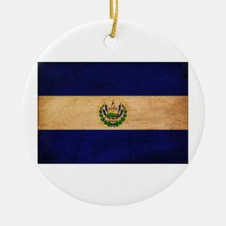 El Salvador Flag Christmas Ornament