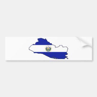 El Salvador Flag Map Bumper Stickers
