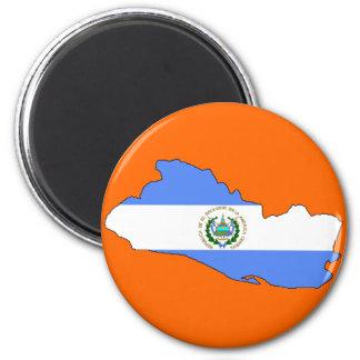 El Salvador flag map Magnet