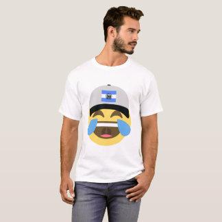 El Salvador Hat Laughing Emoji T-Shirt