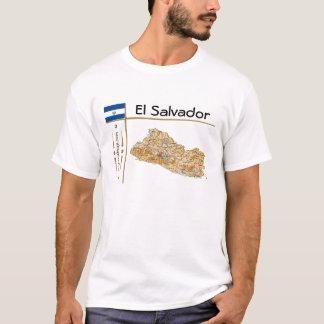 El Salvador Map + Flag + Title T-Shirt