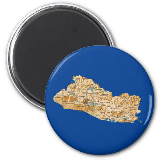 El Salvador Map Magnet