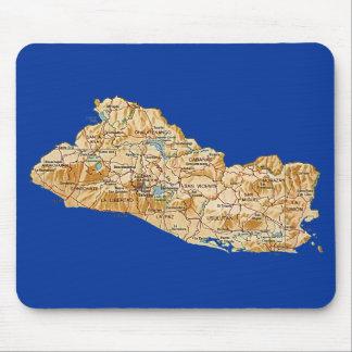 El Salvador Map Mousepad