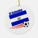 El Salvador Soccer Team Round Ceramic Decoration