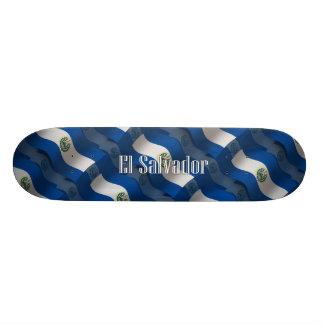El Salvador Waving Flag 21.3 Cm Mini Skateboard Deck