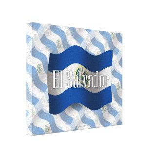 El Salvador Waving Flag Gallery Wrapped Canvas