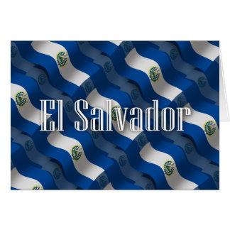 El Salvador Waving Flag Card