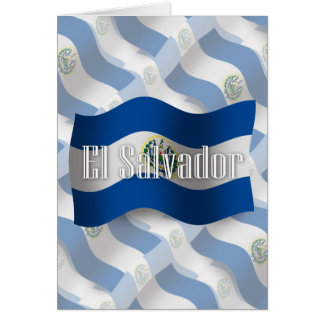 El Salvador Waving Flag Greeting Cards