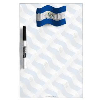 El Salvador Waving Flag Dry-Erase Whiteboards