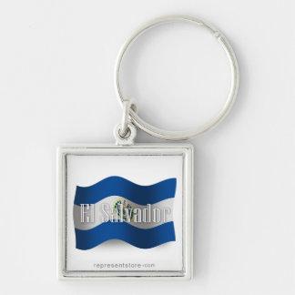 El Salvador Waving Flag Key Chains